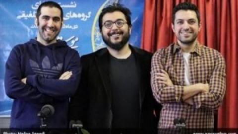 اشکان خطیبی خواننده کنسرت «قلم را بچرخان» در نشست خبری جشنواره فجر