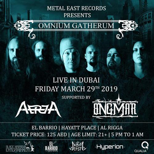 گروه آتريا به همراه گروه Omnium Gatherum جمعه ٢٩ مارچ و شنبه ٣٠ مارچ در دبي بر روي صحنه رفت